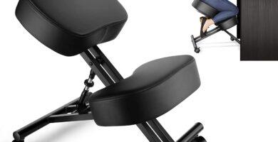 Silla ergonómica de rodillas para corrección de postura, taburete ajustable para el hogar y la oficina, alivia el dolor de espalda y cuello, mejora la postura